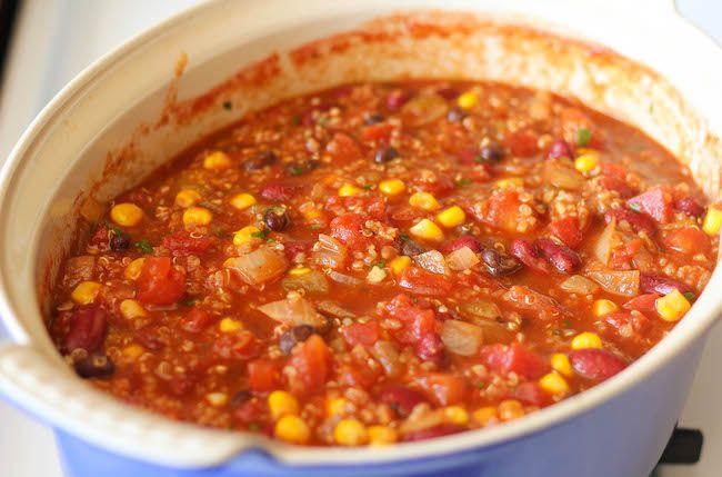quinoa chili quinoa chili this vegetarian protein packed chili ...