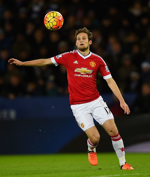 Daley Blind of Manchester United in action during the Barclays Premier League…