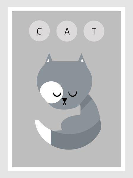 Plakat CAT - deliratio - Plakaty dla dzieci