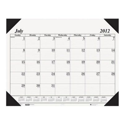 House of Doolittle Recycled Economy 14-Month Academic Desk Pad Calendar, 22 x 17, 2017-2018 - HOD12502