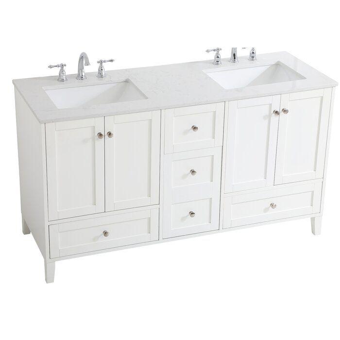 Highland Dunes Goodell 60 Double Bathroom Vanity Set Wayfair Double Vanity Bathroom Single Bathroom Vanity Bathroom Vanity