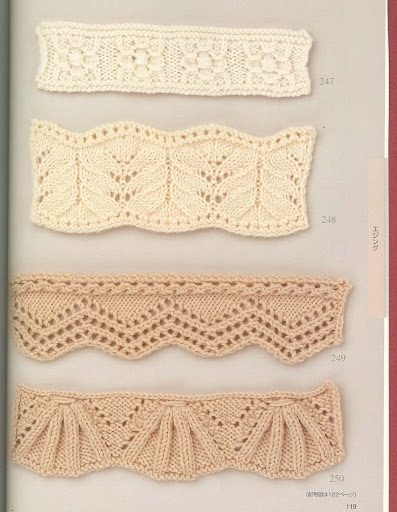 Gorgeous stitch patterns: with chart @Af's 13/2/13