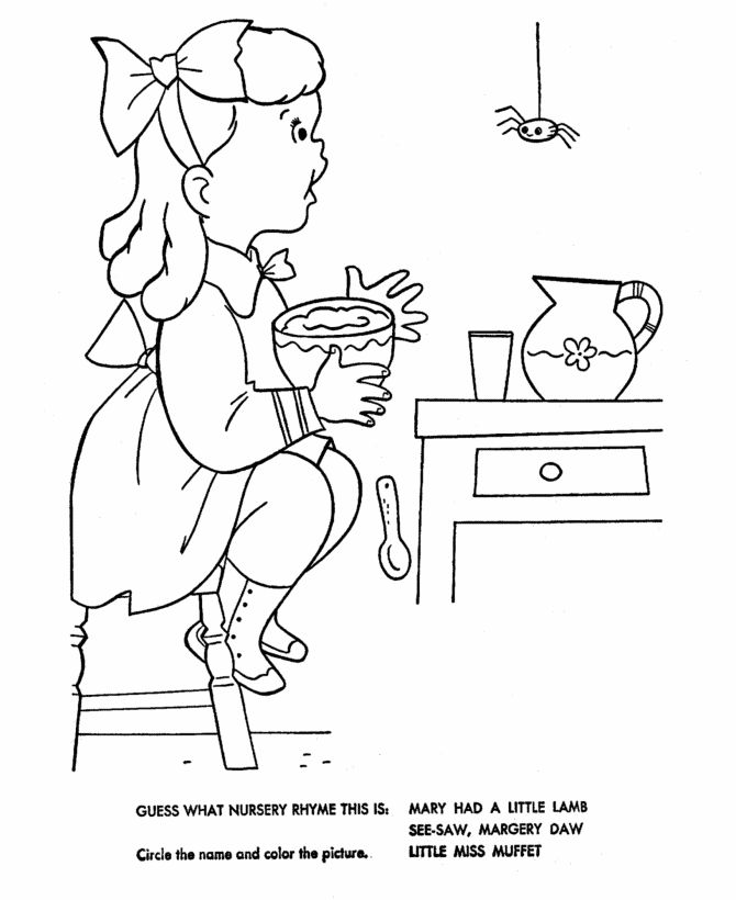 nursery rhymes quiz coloring page