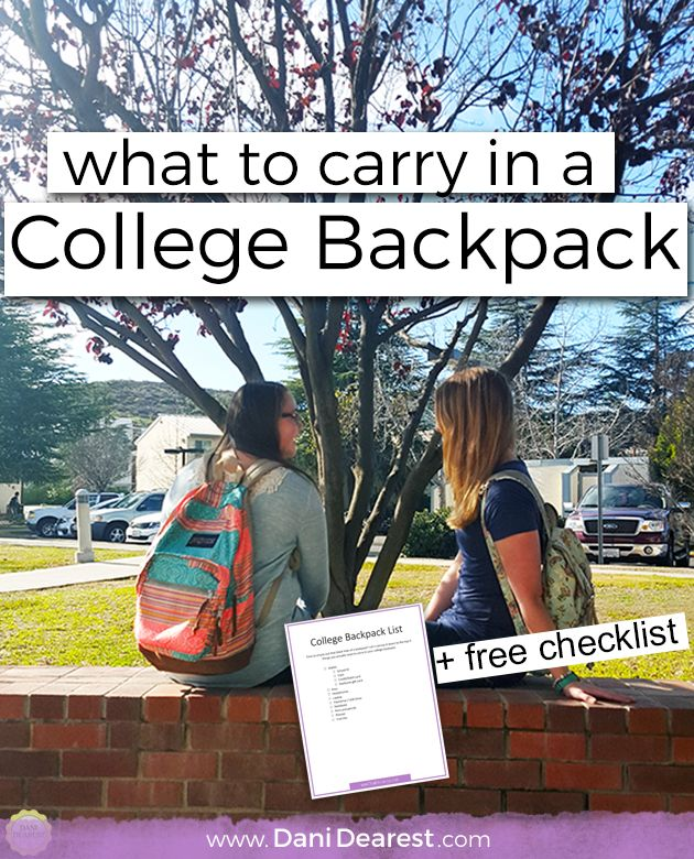 25  best ideas about College backpack organization on Pinterest ...