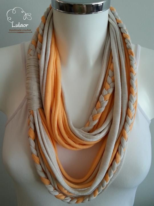 SALE  t shirt scarf t shirt infinity scarf tshirt scarf by Lulaor