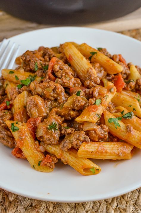 Slimming Eats Syn Free One Pot Cheeseburger Pasta – Slimming World and Weight Watchers friendly