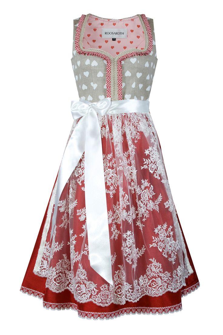 Dirndl LOVE BUG   ROOSAROTH - Dirndl Couture     S❤
