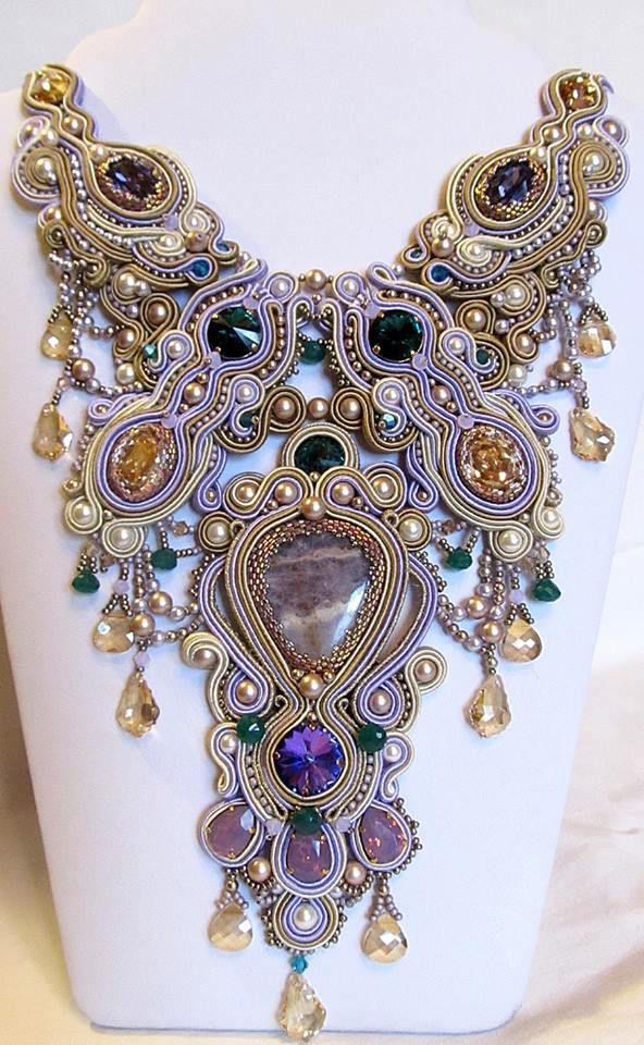 A WoW for this soutache statement necklace!  Masterpiece by Zoia Chislova