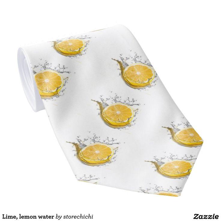 Lime, lemon water tie