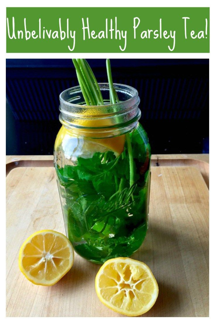 Incredibly easy parsley tea! A simple use for extra parsley that's full of vitamins and antioxidants and even reduces bloating! | Tasting Everything