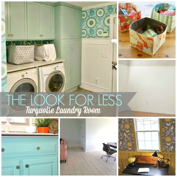 5 Ways to Get This Look: Turquoise Laundry Room