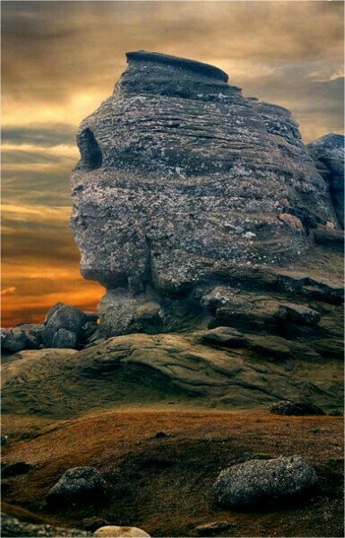 The Sphinx of Bucegi Mountains, Romania