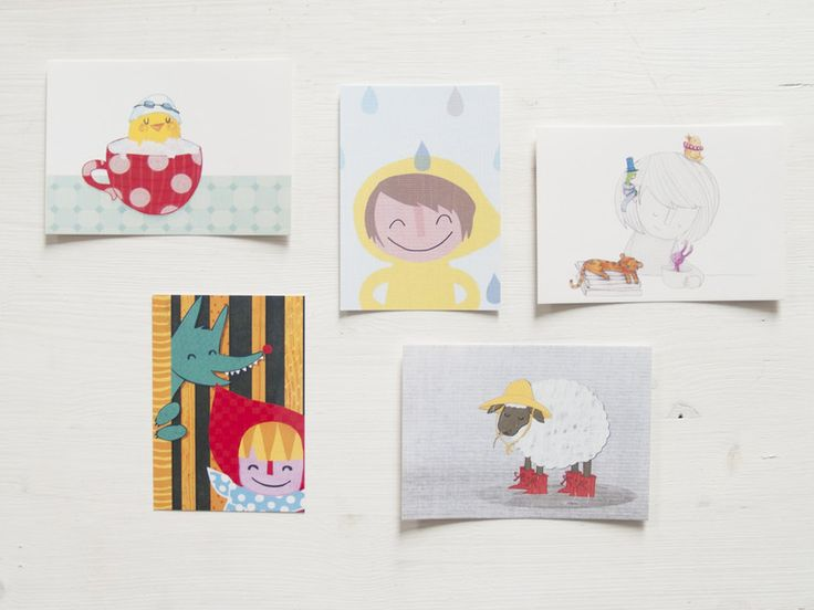 Autumn – A rainy postcard – a unique product by littlePrintStore on DaWanda