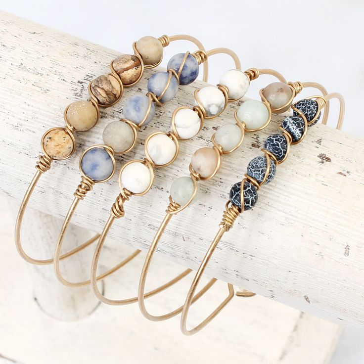 Wire Natural Stone Bracelet