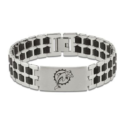 Men's NFL Miami Dolphins Bracelet in Stainless Steel | Jojo