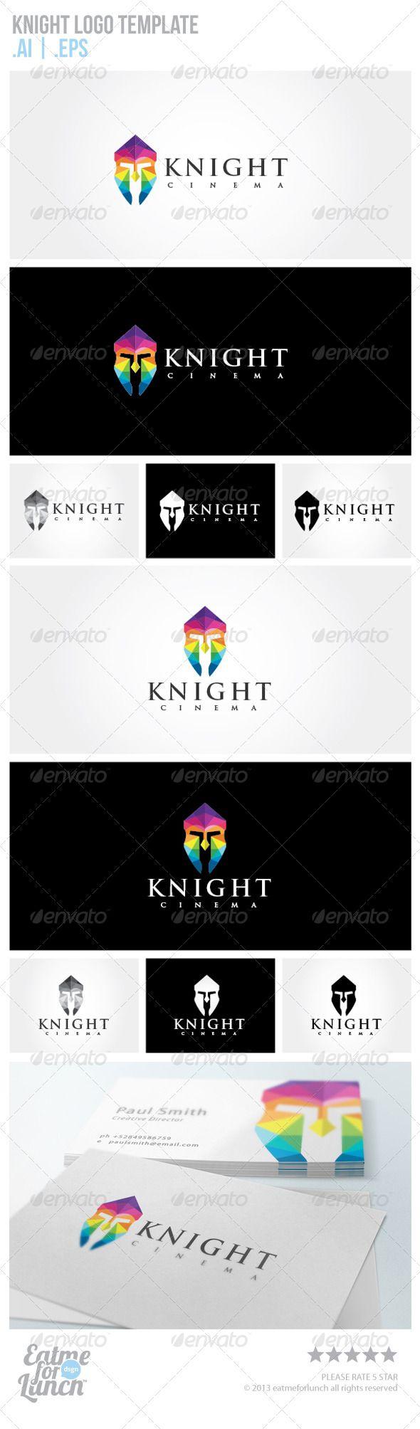Knight Logo Template Logo Templates Knight Logo Premade Logo Templates