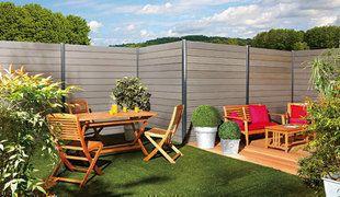 Lame en bois composite pour clôture FIDJI intermediaire ép.20mm larg.16cm long.1,80m ardoise - Gedimat.fr