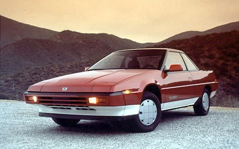Subaru XT Turbo coupe - if you are going to do angular - I think this is the winner