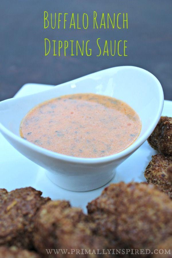 Buffalo Ranch Dipping Sauce   PrimallyInspired.com #paleo