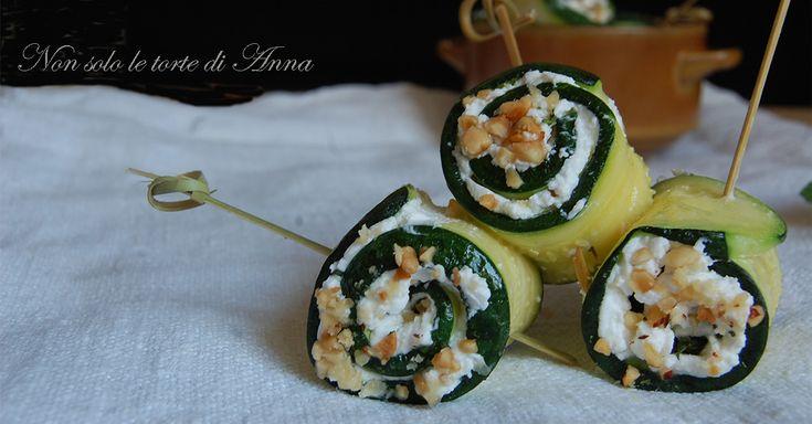Rotoli+di+zucchine+con+formaggio+e+menta