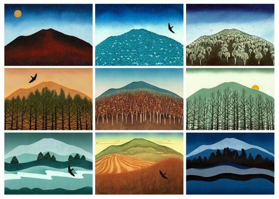 Title: Printhie - Nine Views of Mount Canobolas  Artist: Marianne Courtenay  Media: Pigment Print   Print Size: 32cm x 45cm