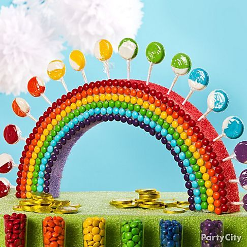 Candy rainbow! Our party stylists tried this on a whim ... and we fell in love with it! Click for lots more awesome candy buffet ideas.