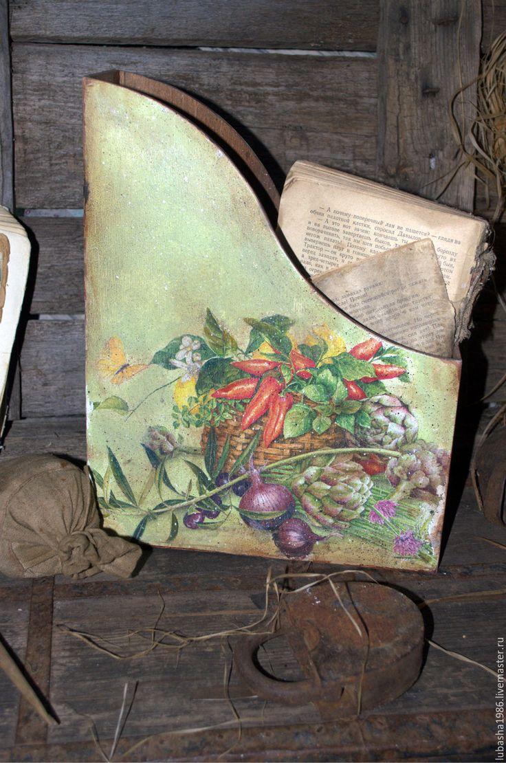"""Купить Журнальница  """"Время урожая"""" в стиле Кантри. для дома - журнальница, папка для бумаг, папка для рецептов"""