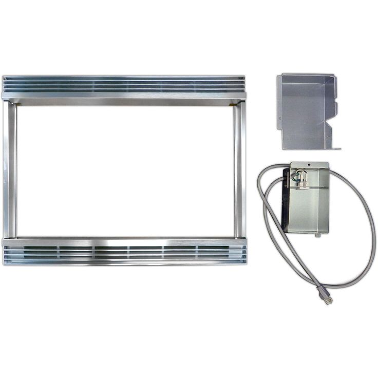 Epic Sharp Stainless Steel Silver inch Built in Kit for Sharp Microwave