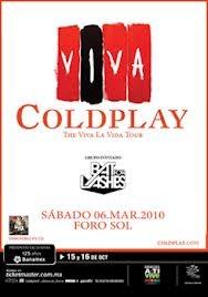 coldplay concierto México 2010