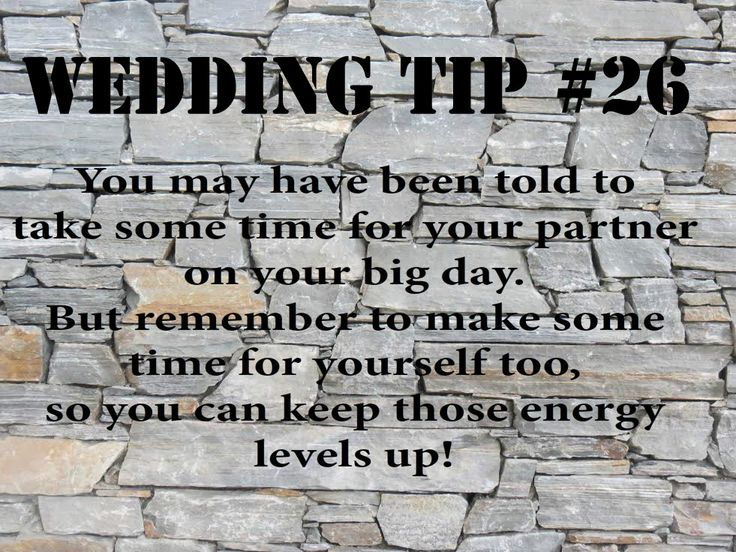 Wedding Tip #26