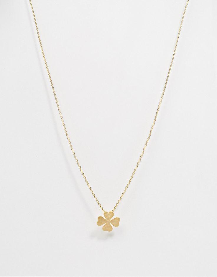 Image 1 ofOrelia Four Leaf Clover Lariat Long Necklace
