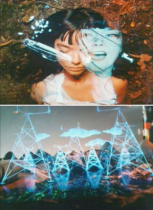 Bjork in her video Hyperballad directed by Michel Gondry