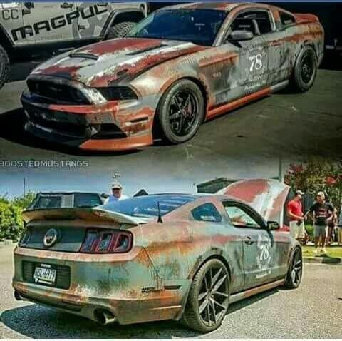 Mustang Rust Wrap (cool barn find look).