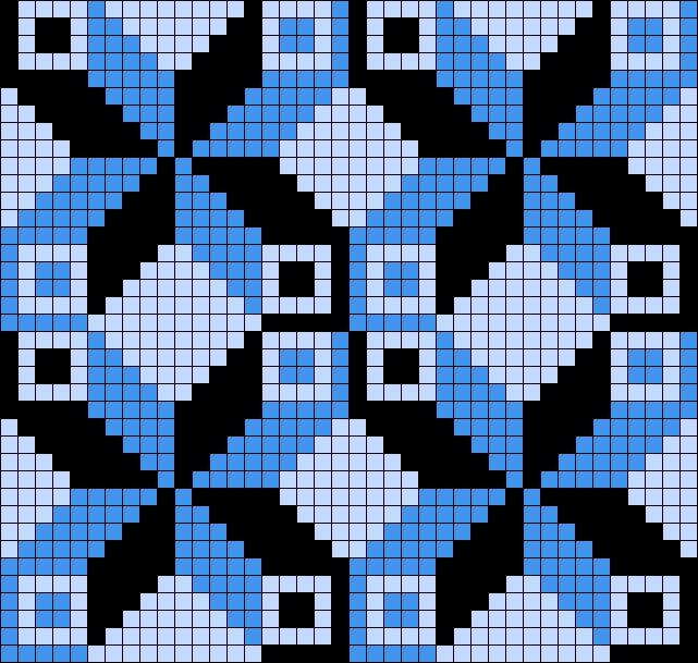 Wayuu Mochila pattern- Grid Paint