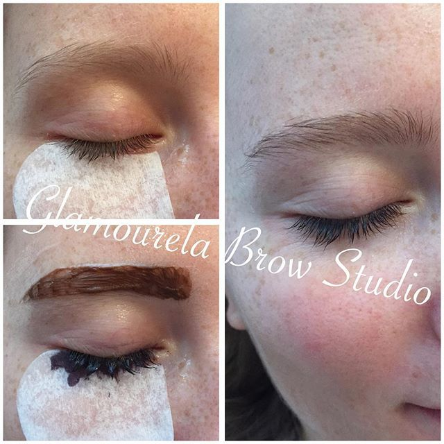 Brow and lash tinting can do wonders!! She may never wear mascara again  #lashes #lashtint #lashtinting #browgoals #browshaping #browsonpoint #browstudio #browtinting #beauty #bride #wedding #nycwedding #nyc #manhattan #nycgirls #glamourous #glamourelabrowstudio #glamourelalovesyou
