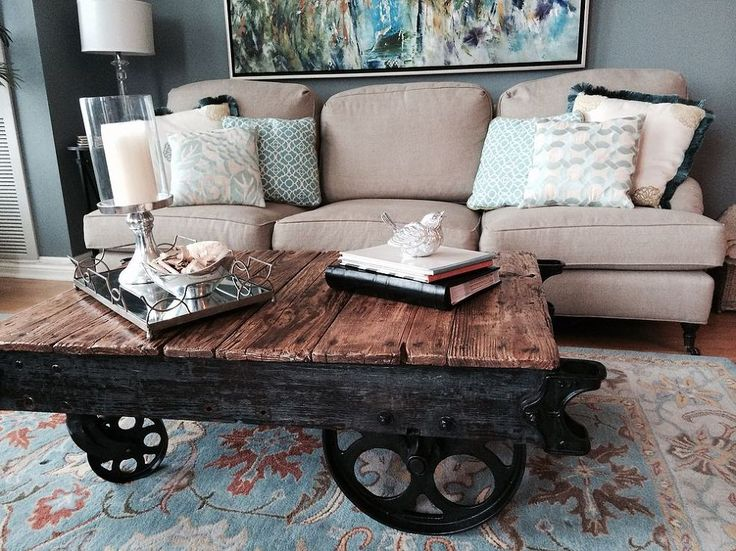 """Hometalk :: Factory Cart Coffee Table--good """"how to"""" included--found on hometalk.com"""
