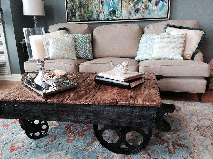 Hometalk :: Factory Cart Coffee Table