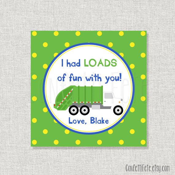 Garbage Truck Trash Day Party  Personalized by ConfettiFete
