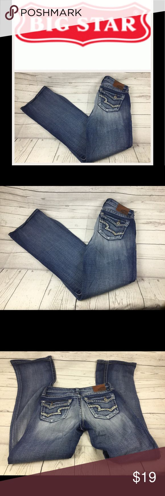 """Big Star Maddie Boot Mid Rise Jeans. Sz 28XL Check out these awesome Big star Jeans.  Sz 29XL. Waist 14"""". Inseam 35"""". Rise 8"""". In good shape. Big Star Jeans Boot Cut"""