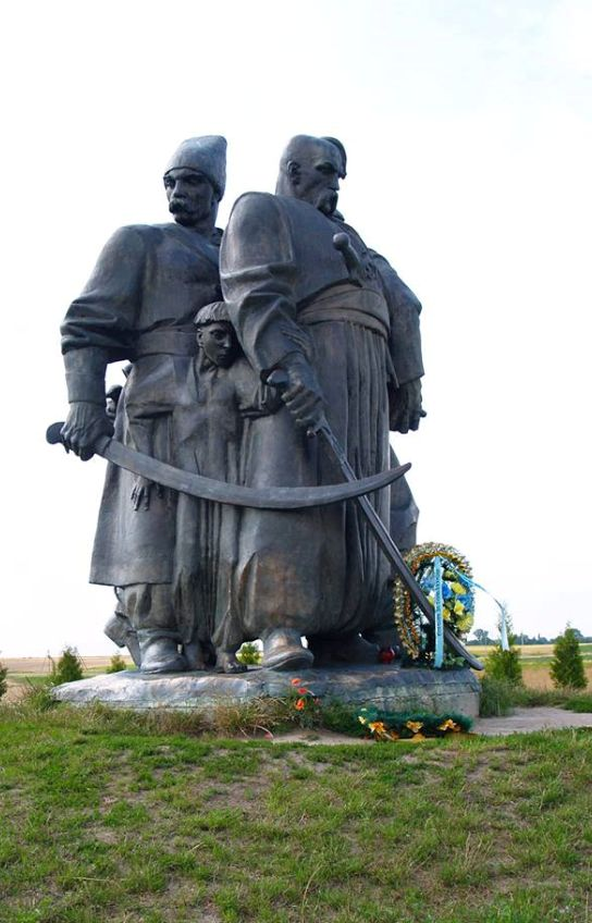 Berestechko, Ukraine.  Further down is an image of my late father standing in front of this memorial.