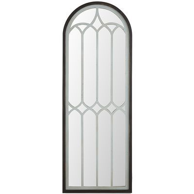 Cut with the classic look of cathedral glass, our handcrafted mirror makes a grand impression in your entryway or any other room, for that matter. Pair it with your favorite contemporary pieces for a clean look that's uniquely modern.