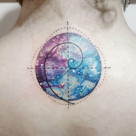 Fibonacci Circle Tattoo - http://www.tattooideas1.org/placement/neck/fibonacci-circle-tattoo/