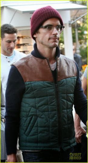 Celeb Diary: Matt Bomer & Simon Halls @ The Grove in Los Angeles