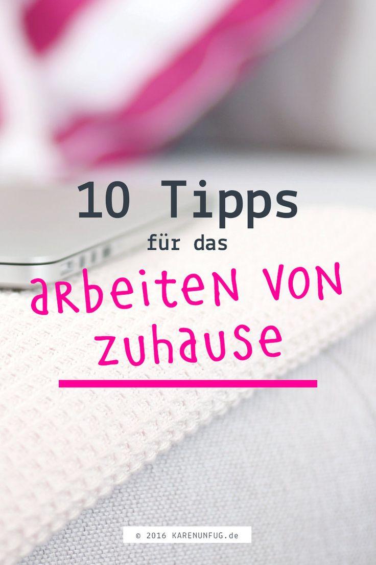 10 Tipps für das Arbeiten von zuhause