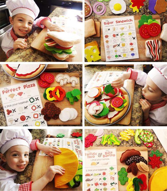 "{Too cute} Menu printable for a ""Kid's Restaurant"" *Love seeing kids use their imagination! So creative."