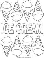 ice cream stand coloring pages - photo#31