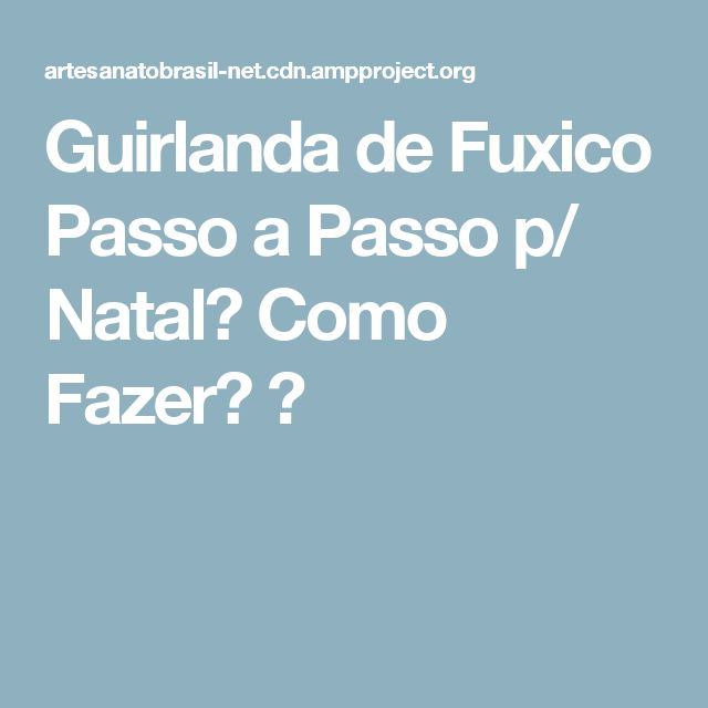 Guirlanda de Fuxico Passo a Passo p/ Natal【 Como Fazer? 】