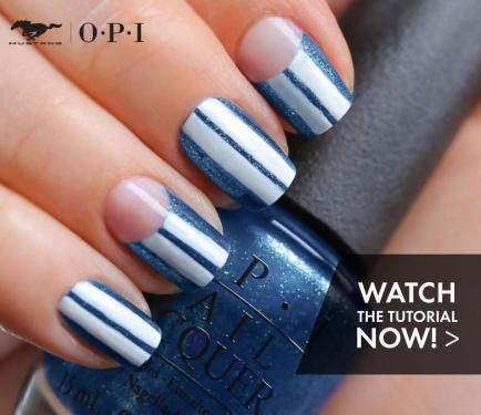 "<3 <3 <3 ""Nail Art Tutorial: Racing Stripes using OPI | NailIt! Magazine'"