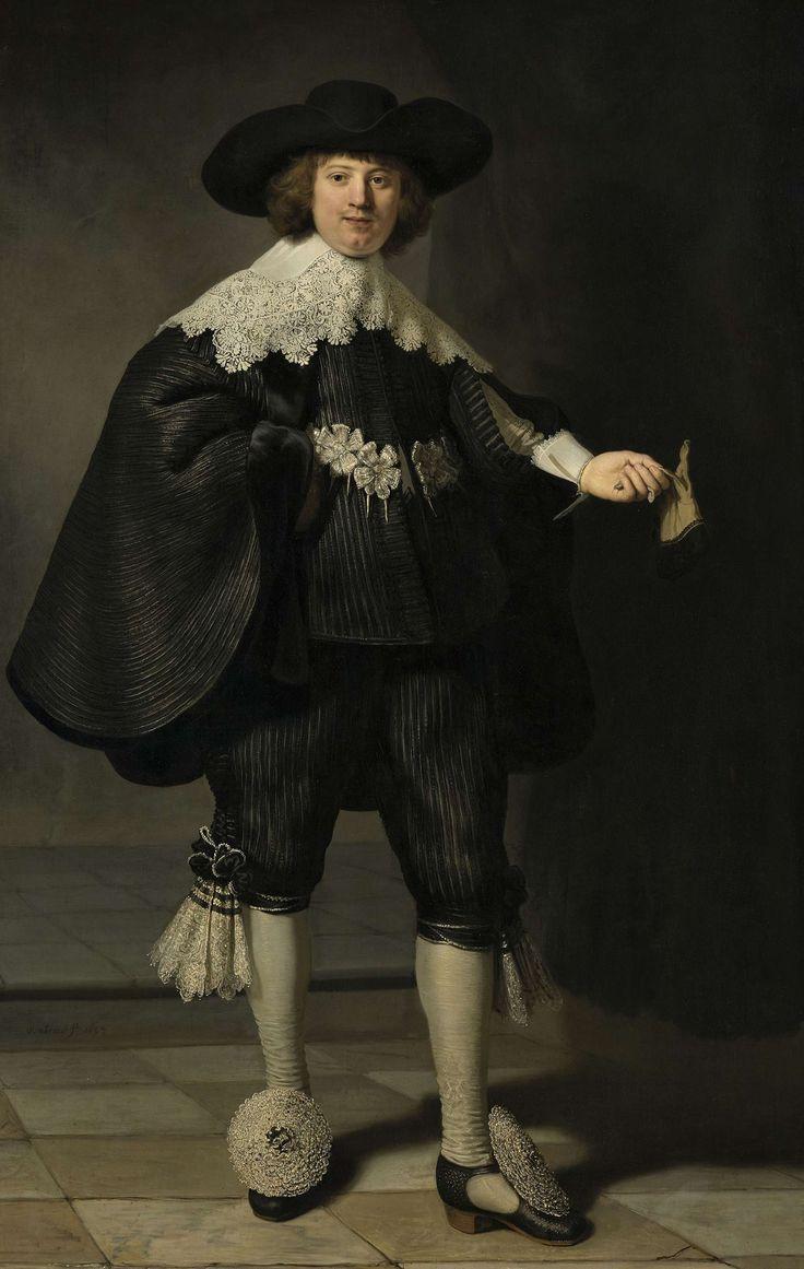 Portret van top tot teen: Portret van Marten Soolmans, Rembrandt Harmensz. van Rijn, 1634