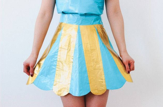How to Make a Nice Duct Tape Dress - just in time for #prom! Easy step-by-step at @ehow by @kirsten_nunez
